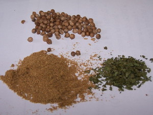 Coriander is great to use just not too much.